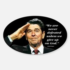Reagan - We Are Never Defeated... Decal
