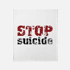 STOP Suicide Throw Blanket