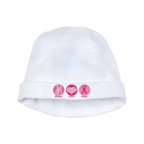 Peace Love Pk Hope baby hat
