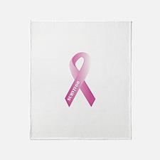 Pink Ribbon Survivor Throw Blanket