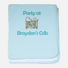 Party at Brayden's Crib baby blanket