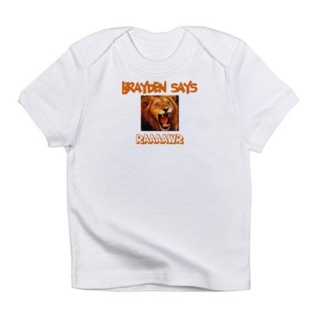 Brayden Says Raaawr (Lion) Infant T-Shirt