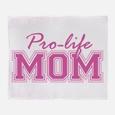 Pro-life Mom Throw Blanket