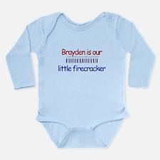Brayden Firecracker Long Sleeve Infant Bodysuit