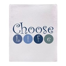Choose Life (circles) Throw Blanket