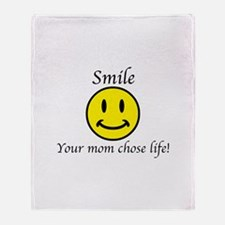 Smile life Throw Blanket