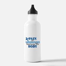 Pain is weakness cross Water Bottle