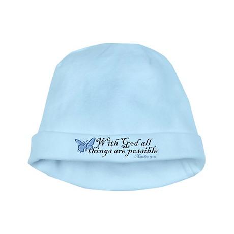 Matthew 19:26 baby hat