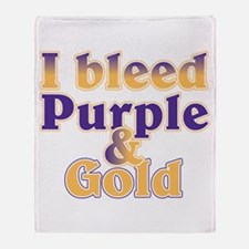 Bleed Purple and Gold Throw Blanket