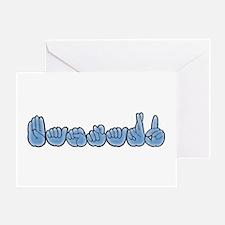 ASL Bastard Greeting Card