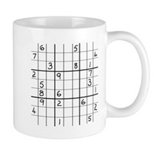 Mug featuring solvable but very hard Sudoku puzzle