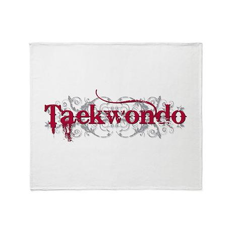Taekwondo Red Throw Blanket