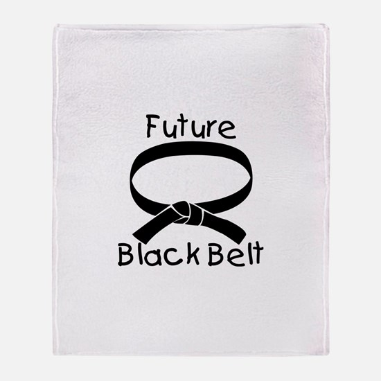 Future Black Belt Throw Blanket