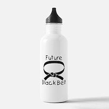 Future Black Belt Sports Water Bottle