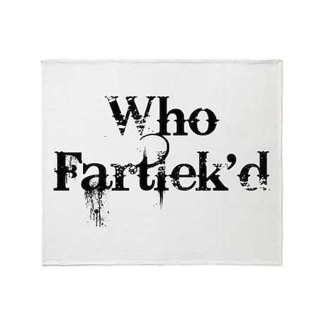 Who Fartlek'd? Throw Blanket