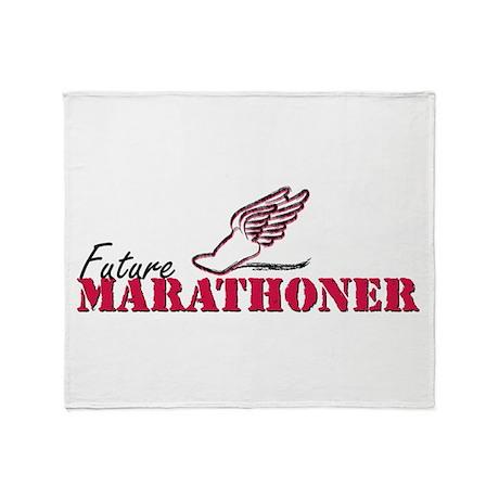 Future Marathoner wf Throw Blanket