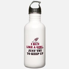 Run like a girl red Water Bottle