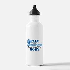 Pain is weakness vball Water Bottle