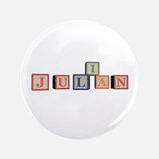 """Julian Alphabet Block 3.5"""" Button"""