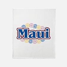 Hawaii - flowers Throw Blanket