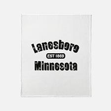 Lanesboro Established 1869 Throw Blanket