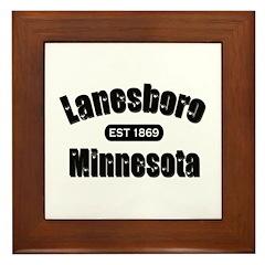 Lanesboro Established 1869 Framed Tile
