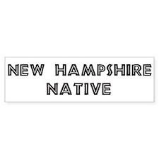 New Hampshire Native Bumper Bumper Sticker