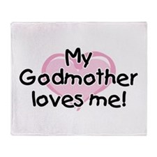 My Godmother loves me (pk) Throw Blanket