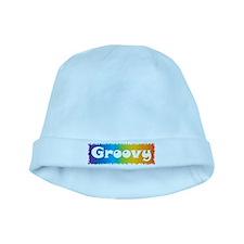 Groovy cl block baby hat