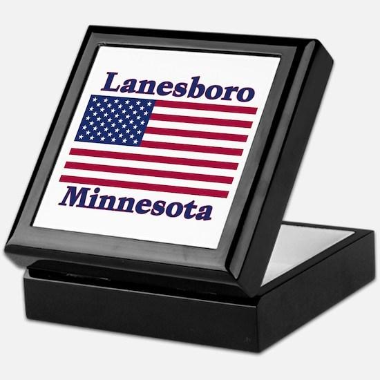 Lanesboro US Flag Keepsake Box