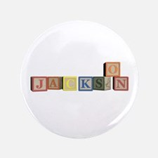 "Jackson Alphabet Block 3.5"" Button"
