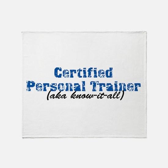 Certified Personal Trainer nta Throw Blanket