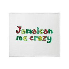 Jamaican me crazy Throw Blanket