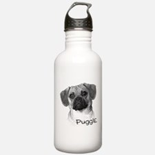 Perfect Puggle Portrait Water Bottle