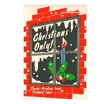 Christians Only! Postcards (Package of 8)