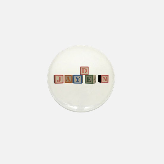 Jayden Alphabet Block Mini Button
