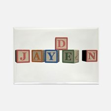 Jayden Alphabet Block Rectangle Magnet
