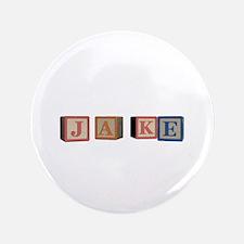 "Jake Alphabet Block 3.5"" Button (100 pack)"