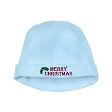 Merry Christmas Holly baby hat