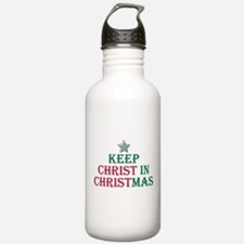 Keep Christ star Water Bottle
