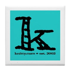 Knittylove [aqua] Tile Coaster