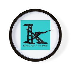 Knittylove [aqua] Wall Clock