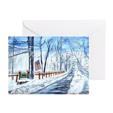 Fox Run in Winter Greeting Cards (Pk of 10)