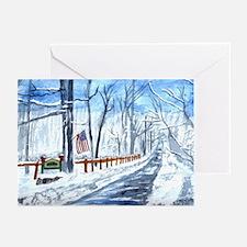 Fox Run in Winter Greeting Cards (Pk of 10)