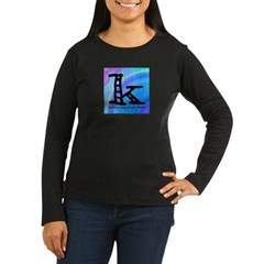 Knittylove [madras] Women's Long Sleeve Dark T-Shi