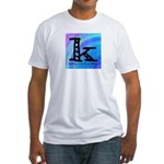 Knittylove [madras] Fitted T-Shirt