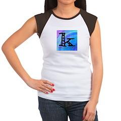 Knittylove [madras] Women's Cap Sleeve T-Shirt