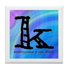 Knittylove [madras] Tile Coaster