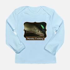 Musky Fishing 1 Long Sleeve Infant T-Shirt