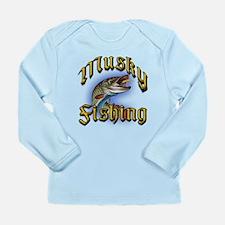 Musky Fishing 2 Long Sleeve Infant T-Shirt